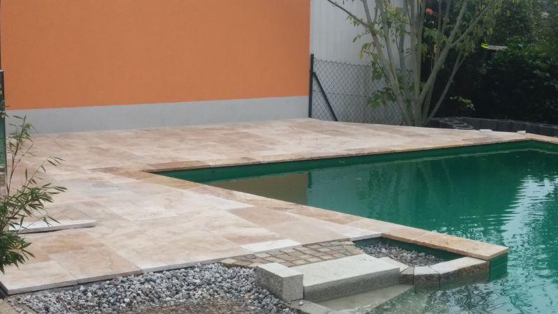 Schwimmteichrand Naturstein