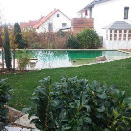 Wasser im Garten, Bad Abbach Niederbayern