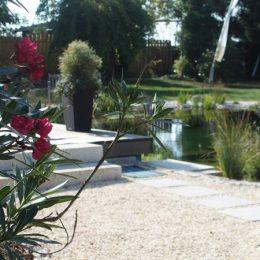 Harmonische Gartengestaltung mit Teich